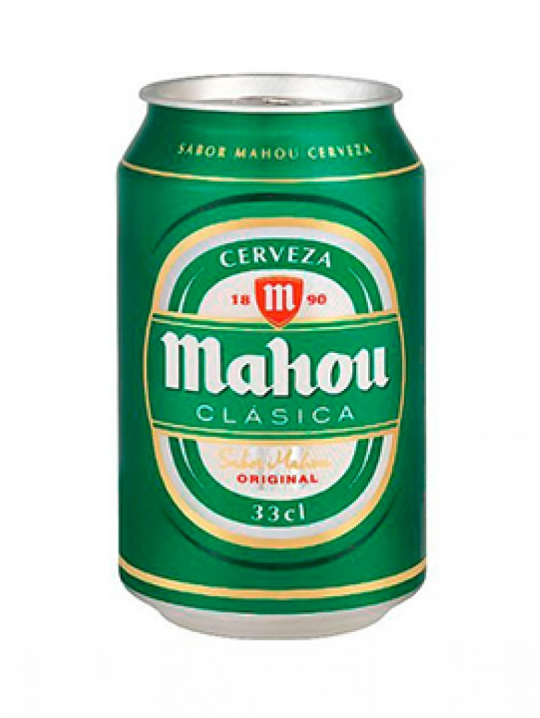 Cerveza Mahou Clasica Lata 33cl Pack 12 Unidades