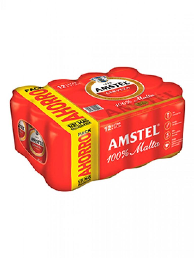 Cerveza Amstel Lata 37,5cl Pack 12 Unidades