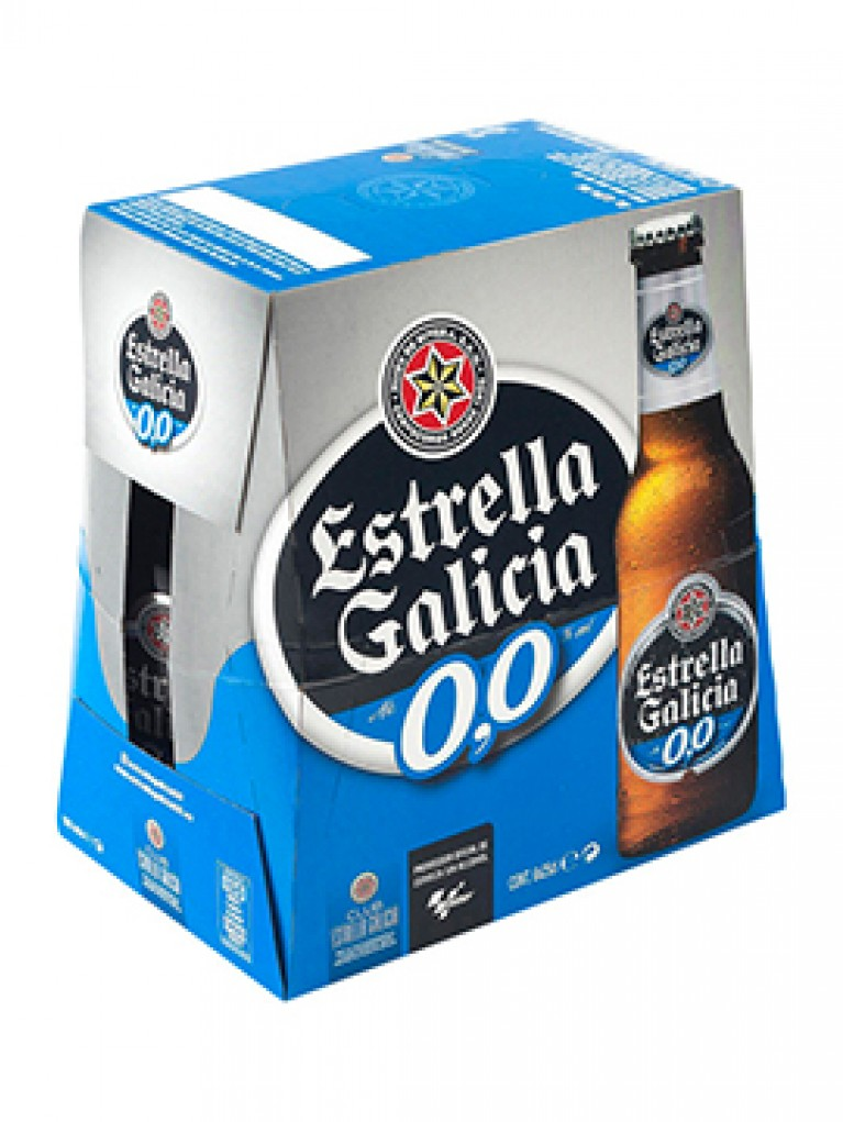 Cerveza estrella de Galicia 0,0 % Pack 6 Unidades