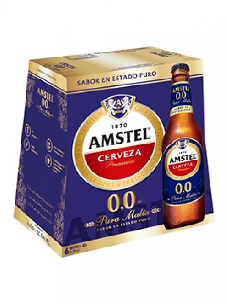 Cerveza Amstel 0,0% Pack 6 Unidades