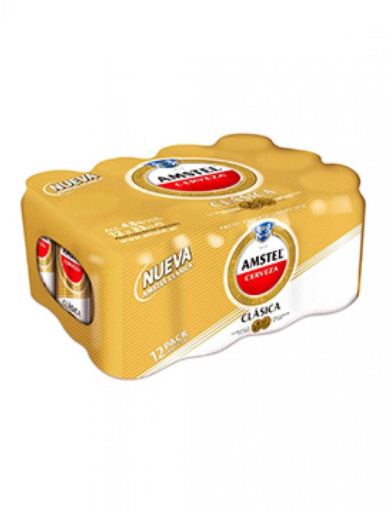 Cerveza Amstel Clasica Lata 33cl Pack 12 Unidades