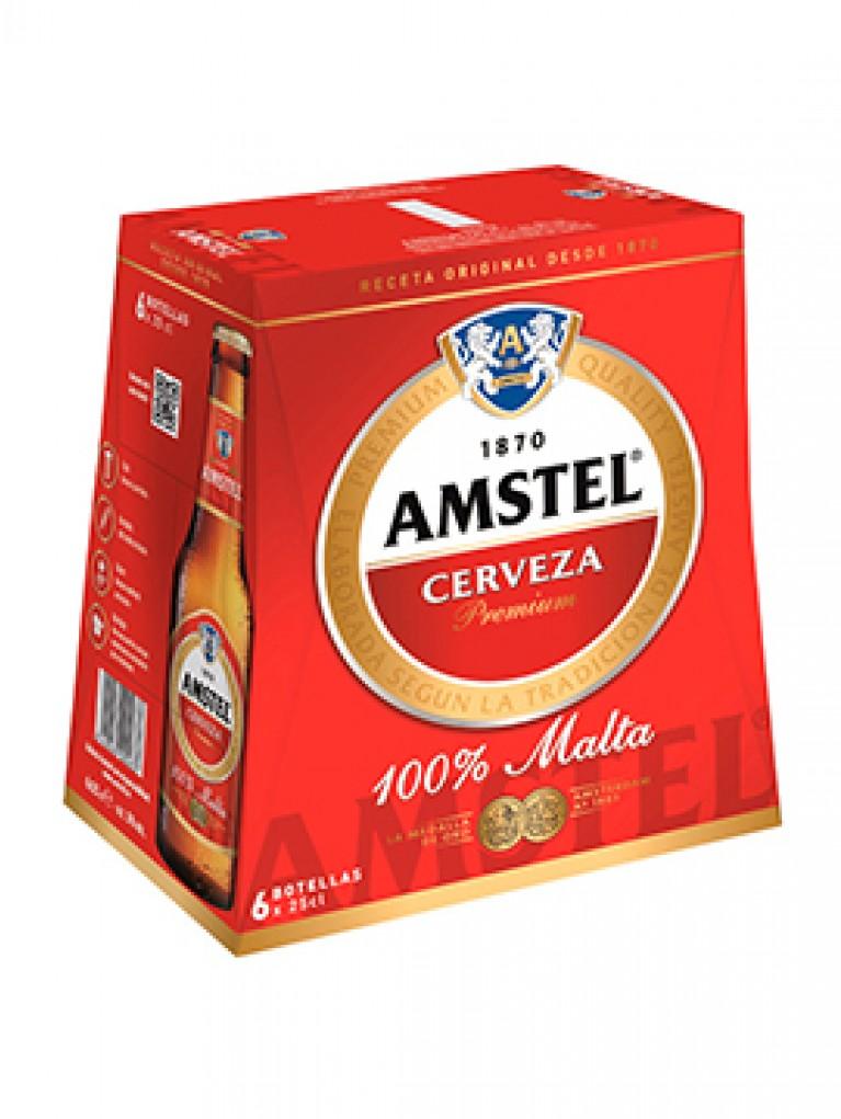 Cerveza Amstel 25cl Pack 6 Unidades