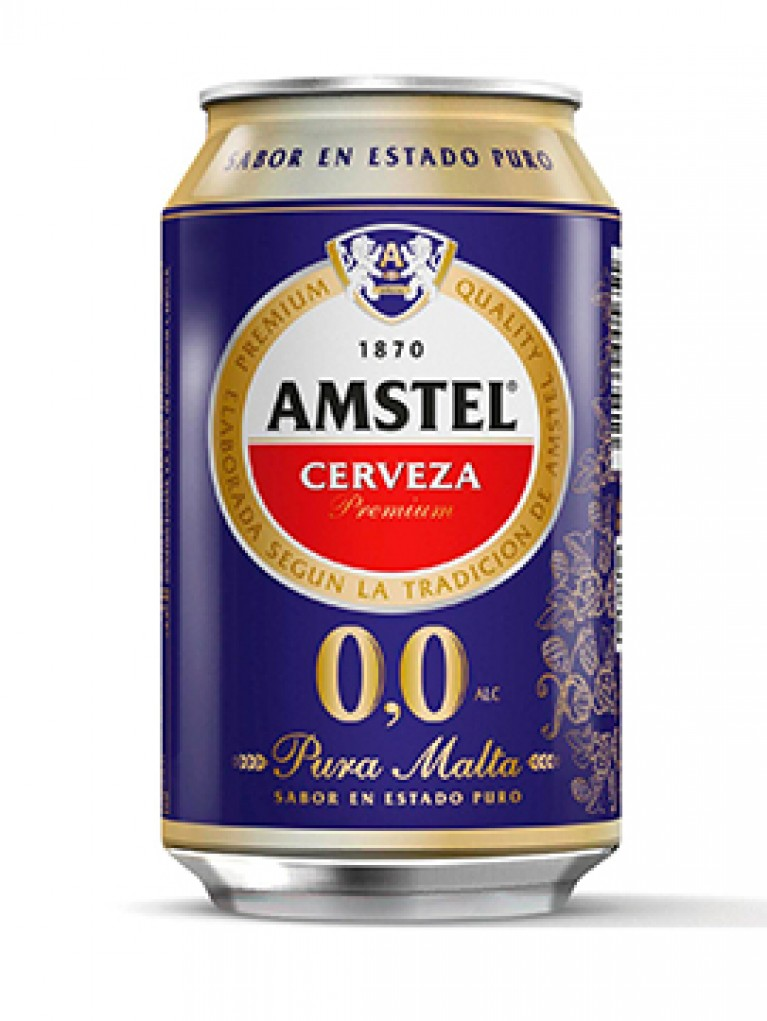 Cerveza Amstel 0,0% Lata 33cl