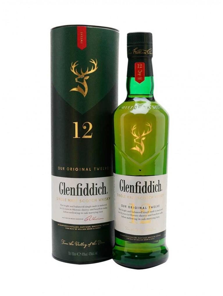 Whisky Glenfiddich Malta 70cl 12 años