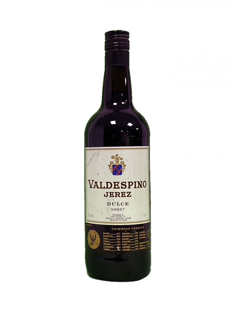 Fino Jerez Dulce Valdespino - Etiqueta deteriorada